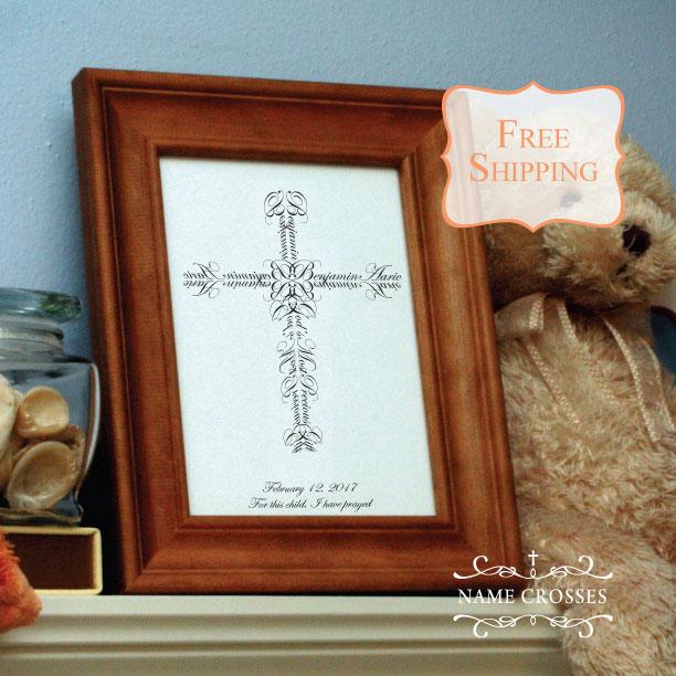 Baby Boy Cross gift by Name Crosses - www.namecrosses.com