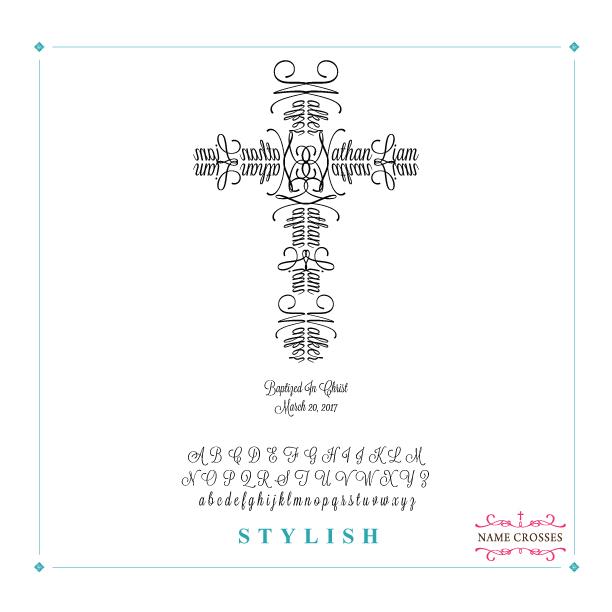 Baptism Personalized Cross for Boys Stylish