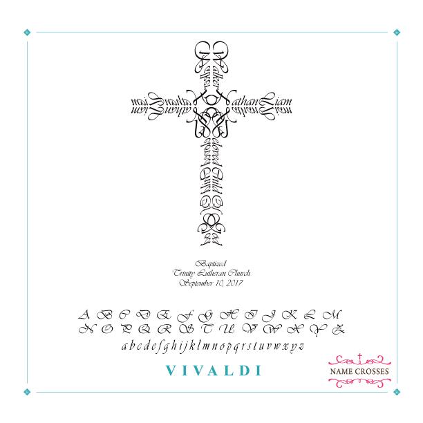 Baptism Personalized Cross for Boys Vivaldi