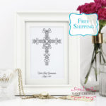 First Communion Cross Personalized gift for girls