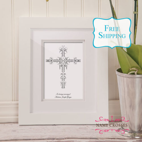 Infant Loss Gift by Name Crosses - www.namecrosses.com
